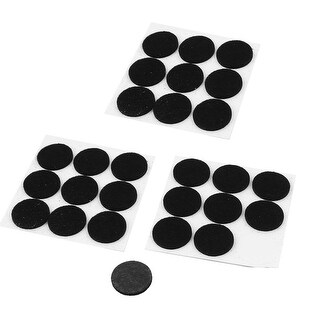 Self Adhesive Furniture Leg Feet Rug Felt Pads Protectors Black 27pcs