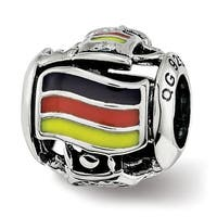 Sterling Silver Reflections Enameled Germany Theme Bead (4.5mm Diameter Hole)