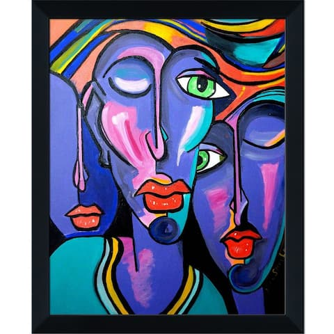 """ArtistBe Picasso by Nora II with Studio Black Wood Frame, 9.5"""" x 11.5"""""""