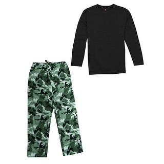 Hanes Men's Jersey Microfleece Sleep Set
