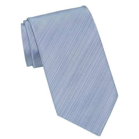 Kenneth Cole Reaction Mens Cain Stripe Silk Tie Blue