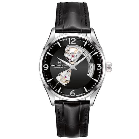 Hamilton Men's Jazzmaster H32705731 Black Leather Automatic Self Wind Fashion Watch - Multicoloured