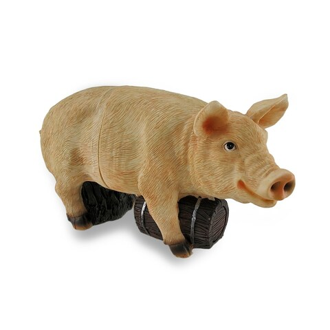 2 Piece Barnyard Swine Wine Bottle Holder Pink Pig Bottle Display