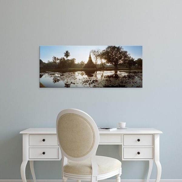 Easy Art Prints Panoramic Image 'Ruins of a temple at dusk, Sukhothai Historical Park, Sukhothai, Thailand' Canvas Art