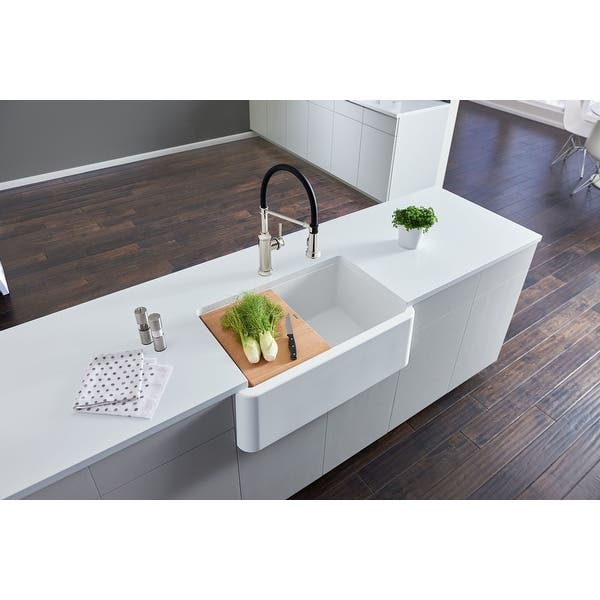 Blanco 4017 Ikon 30 Silgranit Farmhouse Apron Front Single Bowl Kitchen Sink Overstock 17485964