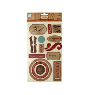 Fall Self-Adhesive Chipboard Embellishments - Pack of 24