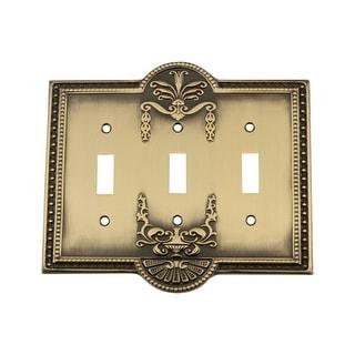 Nostalgic Warehouse MEA_SWPLT_T3 Meadows Triple Switch Wall Plate