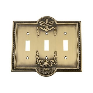 Nostalgic Warehouse MEA_SWPLT_T3 Meadows Triple Switch Wall Plate