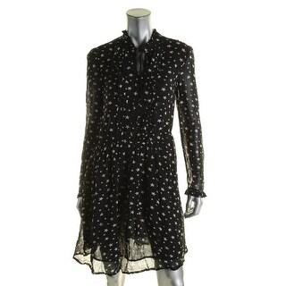 Denim & Supply Ralph Lauren Womens Casual Dress Star Print Chiffon