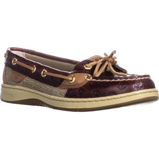 Sperry Top-Sider Angelfish Boat Shoes, Cordovan Anchor - 6.5 us / 37 eu