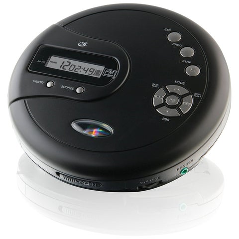 Dpi Inc/Gpx Pc332b Portable Black Cd Player W/Anti-Skip Protection/Fm Radio/Stereo Earbuds