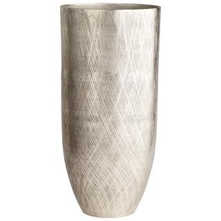 """Cyan Design 09831  Katerina 13-1/2"""" Diameter Aluminum Vase - Antique Silver"""