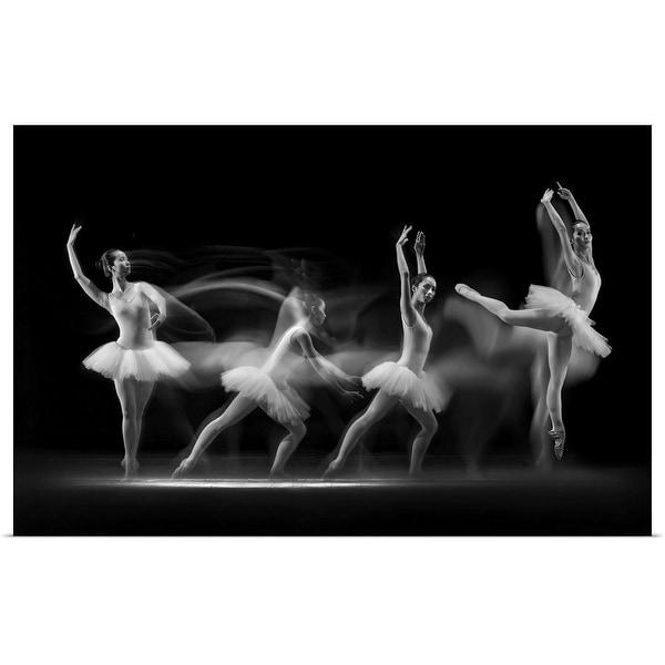 """Ballerina Art Wave"" Poster Print"