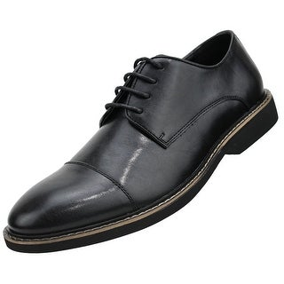 Amali Mens Smooth Leather Oxford Dress Shoes