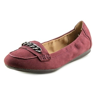 Easy Spirit e360 Gilford Women Round Toe Leather Burgundy Ballet Flats