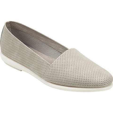 Aerosoles Women's Ms Softee Loafer Grey Faux Leather