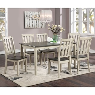 Link to Furniture of America Hochter Rustic Antique White 7-piece Dining Set Similar Items in Dining Room & Bar Furniture