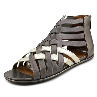 Gentle Souls Olivia Women Open Toe Leather Gold Gladiator Sandal