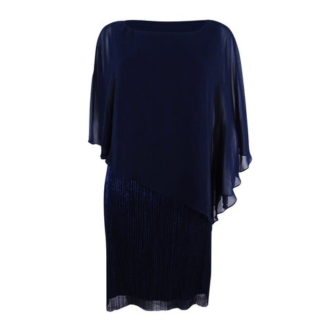 Connected Women's Cape-Overlay Dress