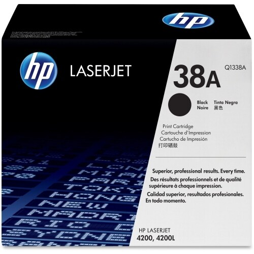 HP 38A Black Original LaserJet Toner Cartridge (Q1338A)(Single Pack)
