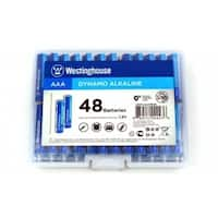 48 AAA Pack Alkaline Batteries- Reusable Hard Case