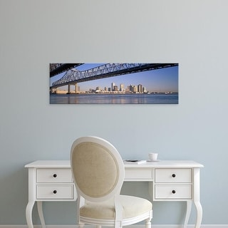 Easy Art Prints Panoramic Image 'Crescent City Connection Bridge, Mississippi River, New Orleans, Louisiana' Canvas Art