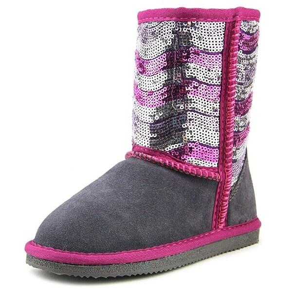 Lamo Swquin Girl Pattern   Round Toe Leather  Winter Boot