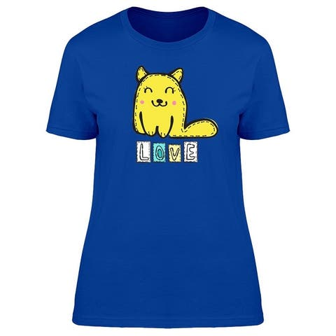 Cute Yellow Cat Tee Women's -Image by Shutterstock