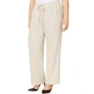 Calvin Klein NEW Beige Women's Size Medium M Drawstring Solid Pants