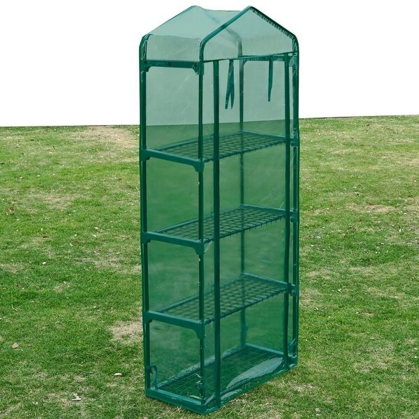4 Shelves Greenhouse Portable Mini Outdoor Gardening Flower Plants Hot House. Opens flyout.