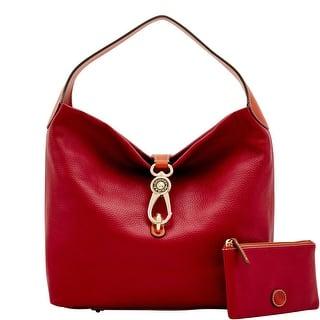 Dooney Bourke Pebble Grain Logo Lock Shoulder Bag Introduced By At