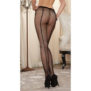 Fishnet Pantyhose With Back Seam, Black Fishnet Pantyhose