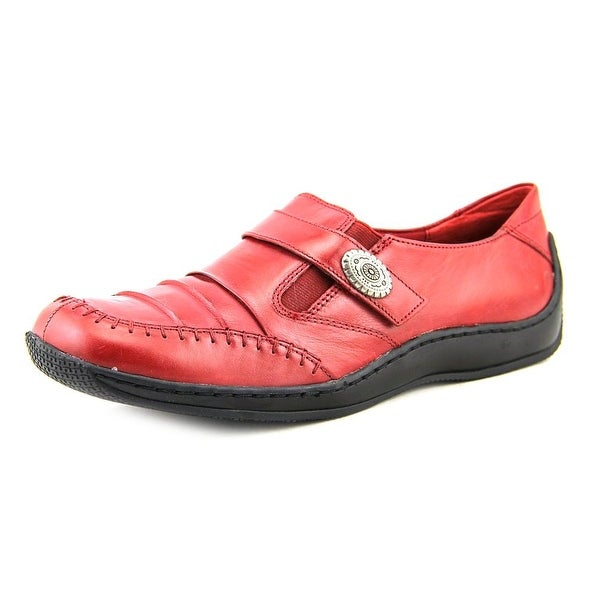 Walking Cradles Bistro Women N/S Round Toe Leather Red Loafer