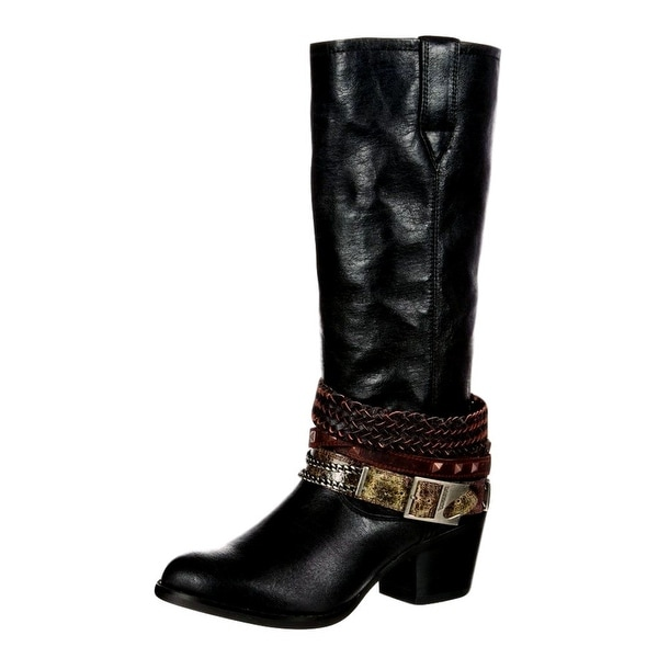 Durango Western Boots Womens Philly Accessorized Straps Black