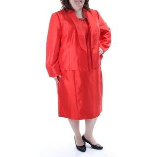 KASPER $240 Womens New 1264 Orange Beaded W/ Jacket Sleeveless Dress 18 B+B