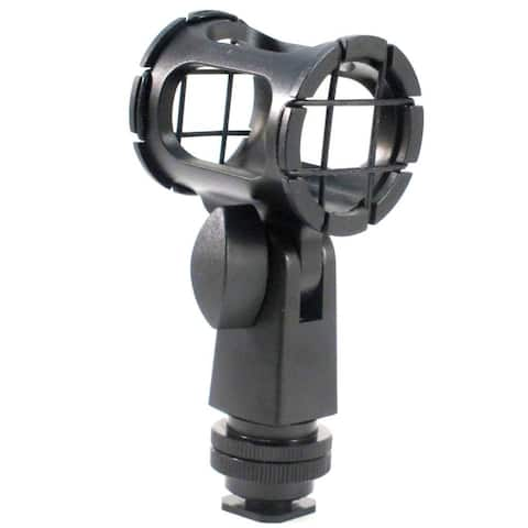 Polaroid Microphone Shock Mount With Dual Mount design (Shoe Mount, 1/4 20, 3/8)