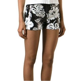 Michael Kors Floral Sequin Drawstring Shorts - L