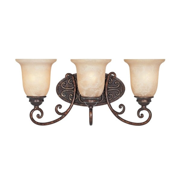 "Designers Fountain 97503 Three Light Down Lighting 22"" Wide Bathroom Fixture from the Amherst Collection - Burnt Umber"