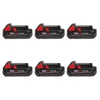 Replacement 1500mAh Battery for Milwaukee 2708-20 / 2742-21CT / 2796-24 Power Tools (6 Pk)