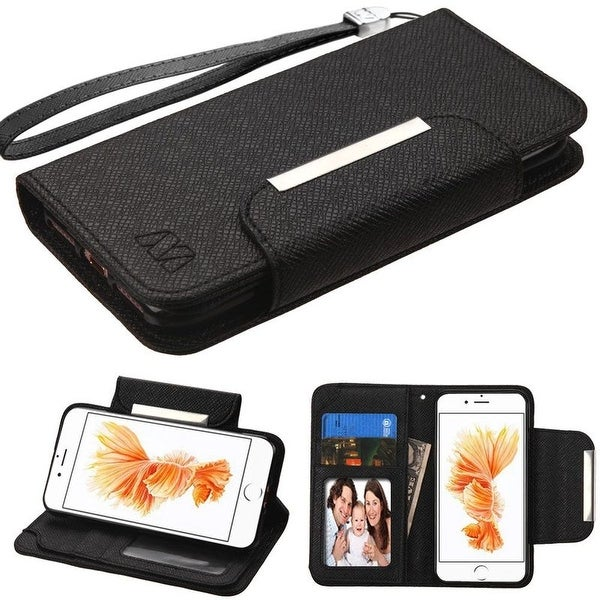 Insten Leather Case Cover Lanyard with Stand/ Wallet Flap Pouch/ Photo Display For Apple iPhone 7 Plus