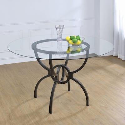 "Carbon Loft Brandt Gunmetal Dining Table Base - 30"" x 30"""