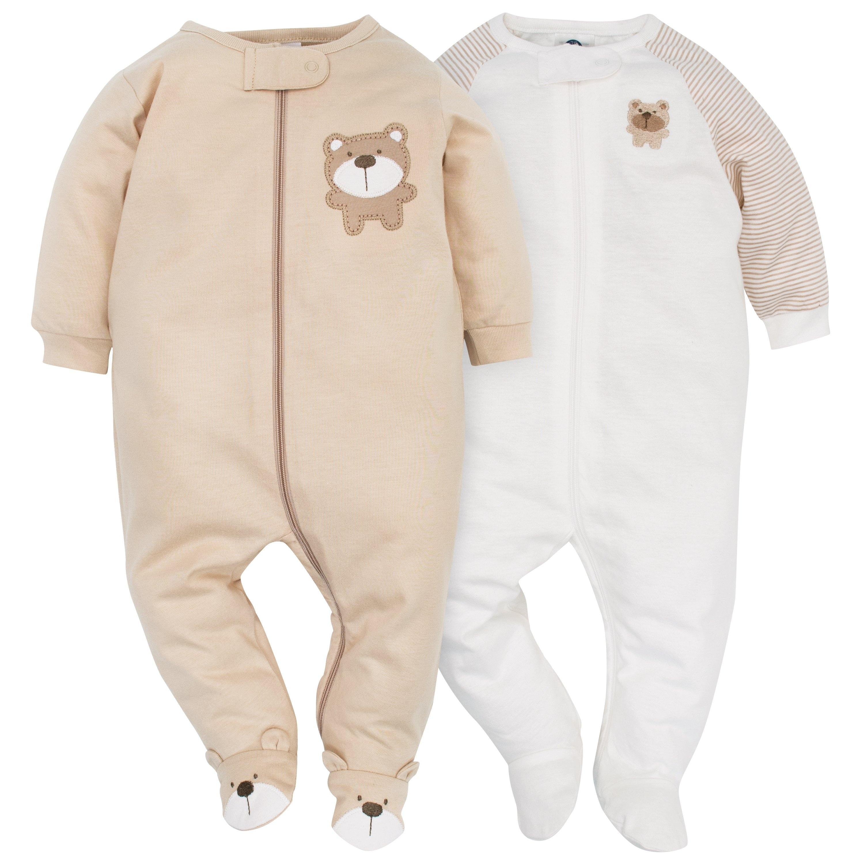 Safari 3-6 Months Gerber Baby Boys 2 Pack Zip Front Sleep n Play