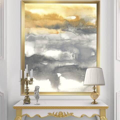 Designart 'Gold Glamour Direction II' Modern & Contemporary Premium Framed Art Print
