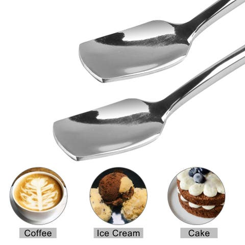 """6.7"""" Long Handle Iced Spoon Stainless Steel Handle Scoop for Kitchen"""