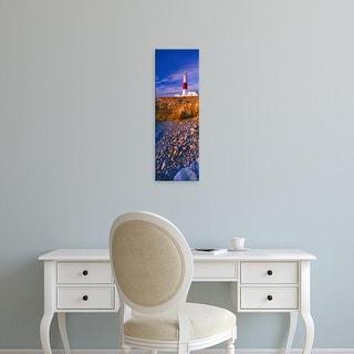 Easy Art Prints Panoramic Image 'Coast, Portland Bill Lighthouse, Portland Bill, Dorset, England' Canvas Art