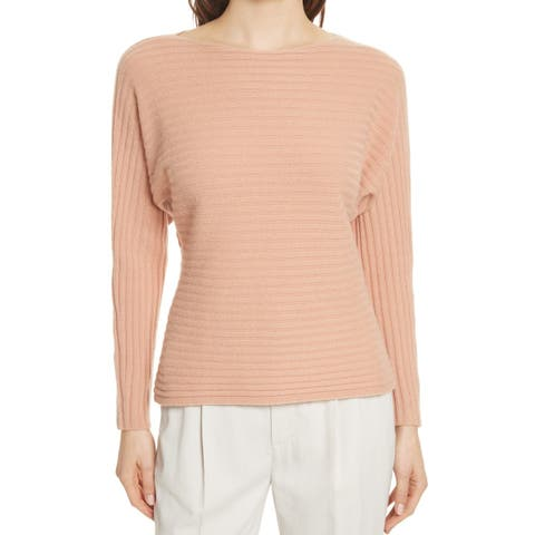 Vince Women's Sweater Pink Size Small S Pullover Tie-Back Ribbed