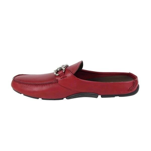 Inevitable Privilegio Aptitud  Salvatore Ferragamo Men's Duca Red Leather Slip On Horsebit Loafer 0690347  (12 M) - 12 M - Overstock - 30380975