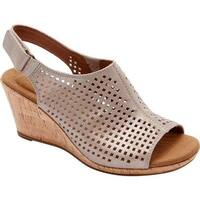 Rockport Women's Briah Perfed Slingback Multi Khaki Full Grain Leather