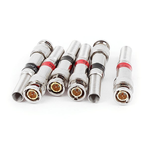 4pcs Metal Welding Spring Guard Coax BNC Male Plug RF Connector for Camera CCTV