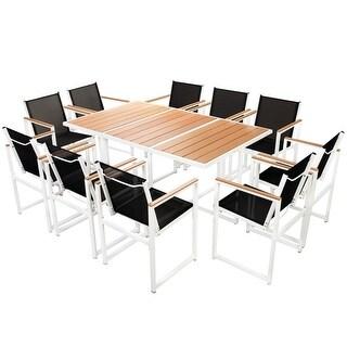 vidaXL Outdoor Dining Set 11 Pieces WPC Patio Garden Furniture